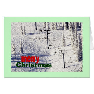 Schweitzer Mountain Ski Chairlift, Christmas Card