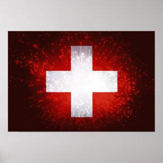 Schweiz Bandera de Suiza Poster