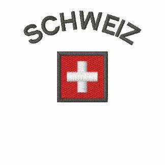 Schweiz Ladies Hoodie With Switzerland Pocket Flag