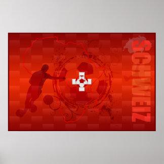 Schweiz Switzerland 2014 soccer fussball poster