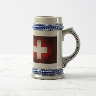 Schweiz; Switzerland Flag Beer Stein
