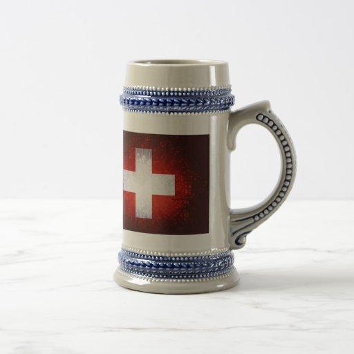 Schweiz; Switzerland Flag Coffee Mug