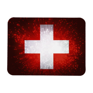 Schweiz; Switzerland Flag Vinyl Magnets