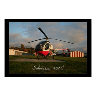 Schweizer 300C Early Evening Poster