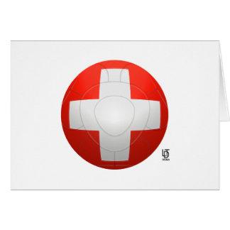 Schweizer Nati - fútbol de Suiza Tarjeta De Felicitación