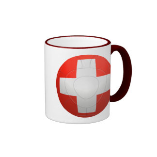 Schweizer Nati - fútbol de Suiza Taza De Dos Colores