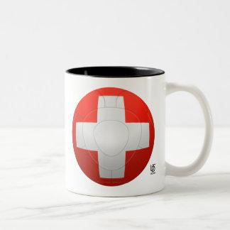 Schweizer Nati - fútbol de Suiza Taza De Dos Tonos