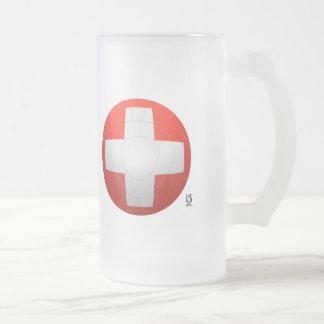 Schweizer Nati - Switzerland Football Frosted Glass Beer Mug