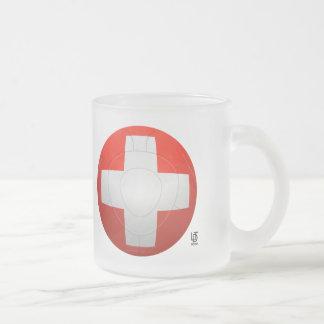 Schweizer Nati - Switzerland Football Frosted Glass Coffee Mug