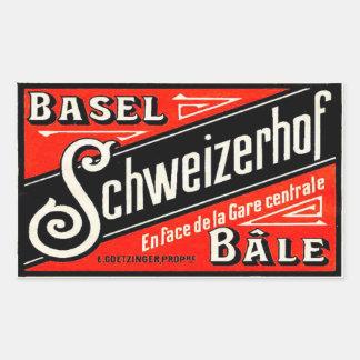 Schweizerhof hotel Basel Bâle Switzerland Rectangular Stickers