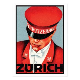 Schweizerhof Zurich Postcard