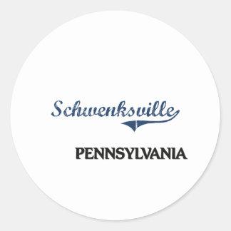 Schwenksville Pennsylvania City Classic Classic Round Sticker