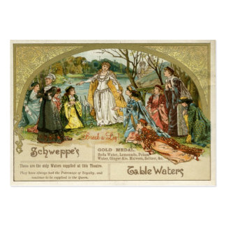 Schweppes Table Waters Gift Tag Business Card Template