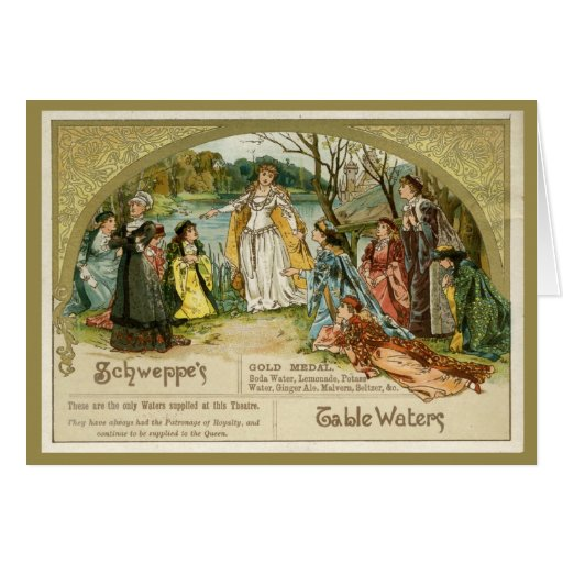Schweppes Table Waters Greeting Card
