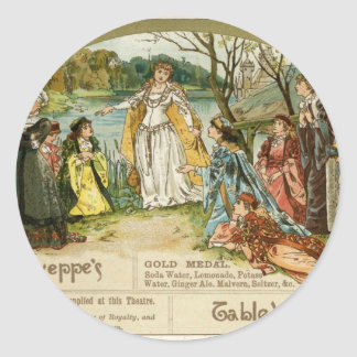 Schweppes Table Waters Round Stickers