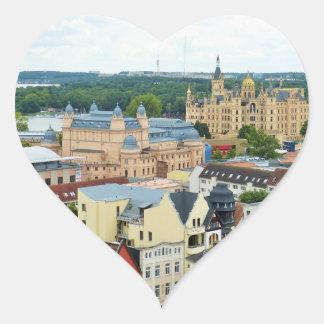 Schwerin, Alemania Pegatina En Forma De Corazón