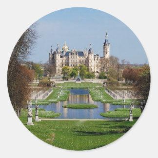 Schwerin castle classic round sticker