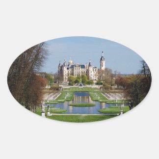 Schwerin castle oval sticker