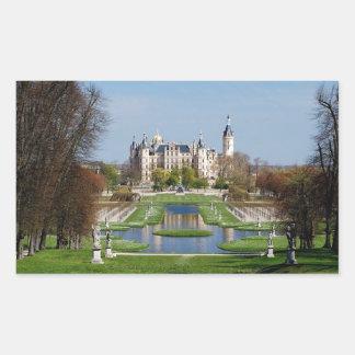 Schwerin castle rectangular sticker