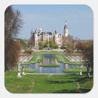 Schwerin castle square sticker