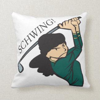 Schwing Throw Pillow