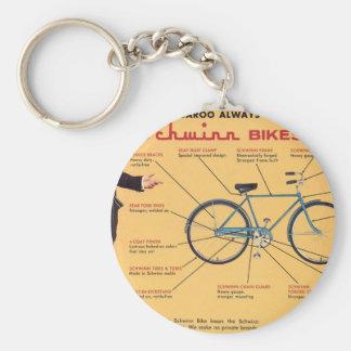 Schwinn Bike Components Basic Round Button Keychain