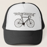 "Schwinning Trucker Hat<br><div class=""desc"">A little twist on the quoted words from the Warlock himself. (Tigerblood and Adonis&#39; DNA are not included)</div>"