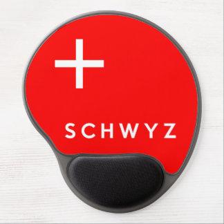 Schwyz province Switzerland swiss flag text name Gel Mouse Pad