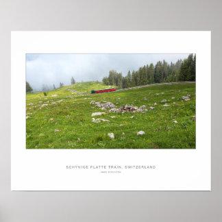 Schynige Platte Cogwheel Train Poster