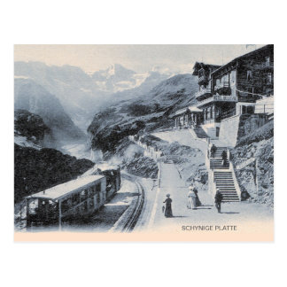 Schynige Platte Railway, Train and Hotel Postcard