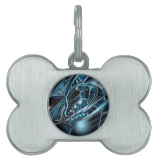 Sci-Fi 3D abstract Pet Name Tag