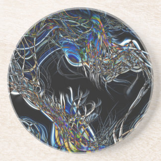 Sci-Fi Abstract Beverage Coaster