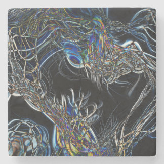Sci-Fi Abstract Stone Beverage Coaster