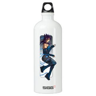 Sci-Fi Anime Girl Aluminum Water Bottle