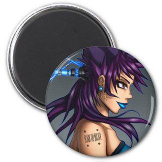 Sci-Fi Anime Girl Magnet