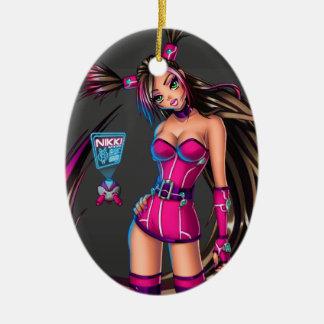 Sci Fi Anime Girl Nikki Ceramic Ornament