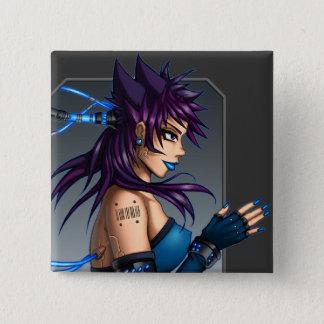 Sci-Fi Anime Girl Pinback Button