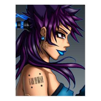 Sci-Fi Anime Girl Postcard