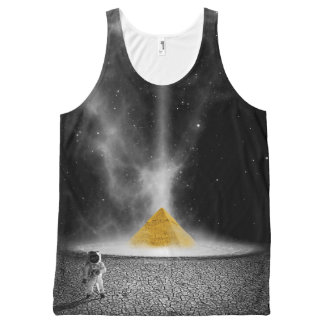 Sci-Fi Astronaut on Alien Planet with Pyramid All-Over-Print Tank Top