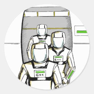 Sci-Fi Astronauts Classic Round Sticker