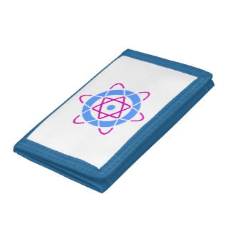 Sci-Fi Atom Symbol Nylon Wallet