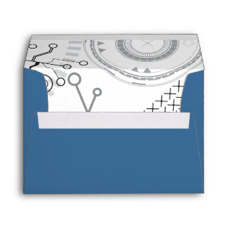 SCI-FI  Bar Bat Mitzvah Envelope