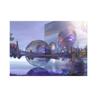 Sci-fi Canvas print Alien City