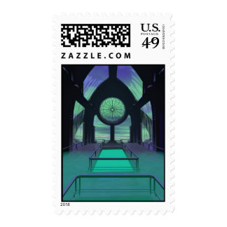 Sci-Fi Cathedral Stamp