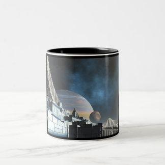 Sci-Fi City Two-Tone Coffee Mug