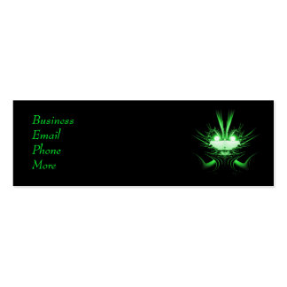 Sci-Fi Creature Green Profile Card Double-Sided Mini Business Cards (Pack Of 20)