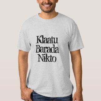 sci fi de la camiseta del nikto del barada del playeras