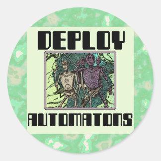 Sci-Fi: Deploy Automatons Classic Round Sticker