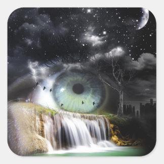 Sci-Fi Eye Square Sticker