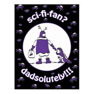 Sci-Fi-Fan Dad Postcard